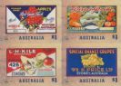 AUS SG4586-9 Nostalgic Fruit Labels self-adhesive set of 4 from booklet (exSB551)